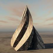 Wieżowiec piramidy 3d model