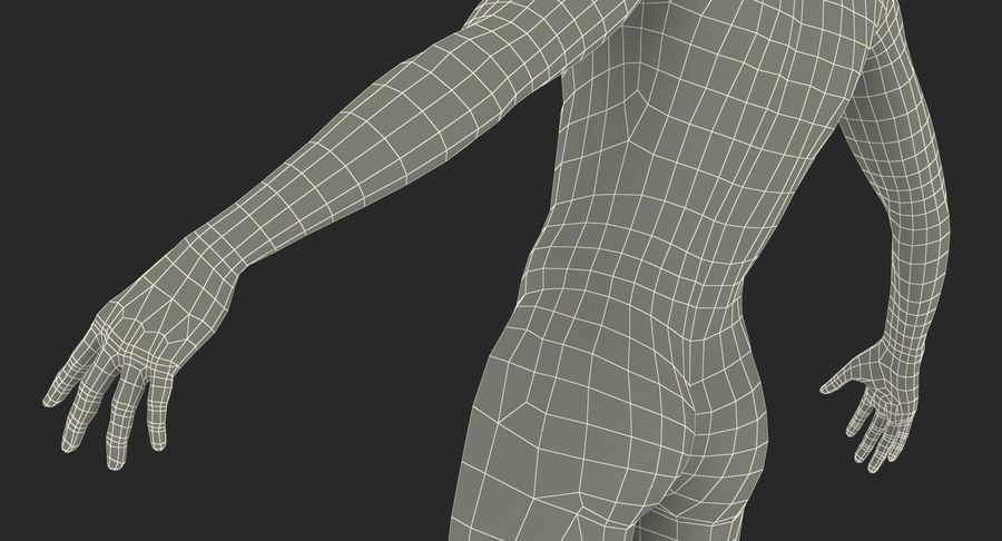 Nike Sportswear Suit Blue Lowered Hood on Mannequin royalty-free 3d model - Preview no. 27