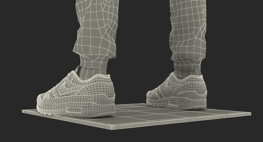 Nike Sportswear Suit Blue Lowered Hood on Mannequin royalty-free 3d model - Preview no. 28