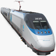 Amtrak Acela特快列车 3d model