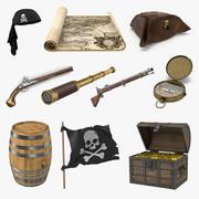 Piraten Requisiten Sammlung 3d model