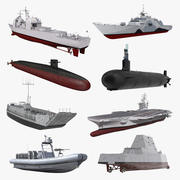 US Warships Collection 3 3d model