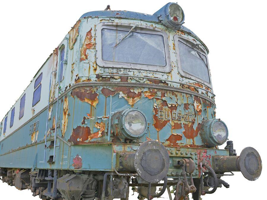 機関車の列車 royalty-free 3d model - Preview no. 1