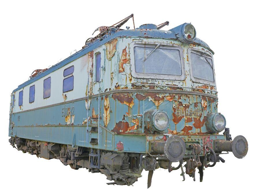 機関車の列車 royalty-free 3d model - Preview no. 2