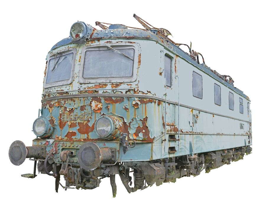 機関車の列車 royalty-free 3d model - Preview no. 3
