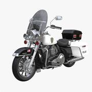 Harley-Davidson Police Bike 3d model