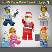 Lego Minifigure Pack - opgetuigd 3d model