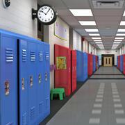 Corridoio della scuola MAX 3d model