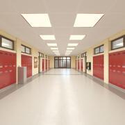 Corridoio della scuola 3d model