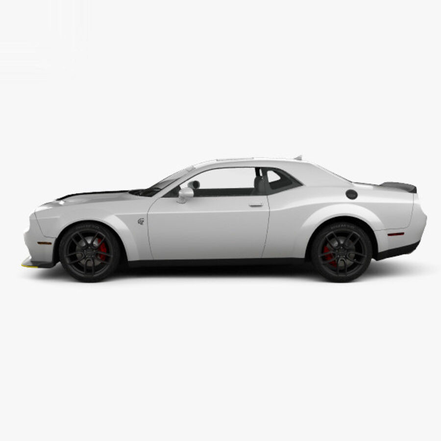 Dodge Challenger SRT Hellcat Wide Body 2018 royalty-free 3d model - Preview no. 5