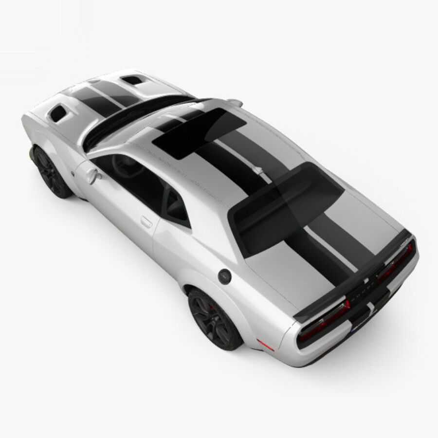 Dodge Challenger SRT Hellcat Wide Body 2018 royalty-free 3d model - Preview no. 9