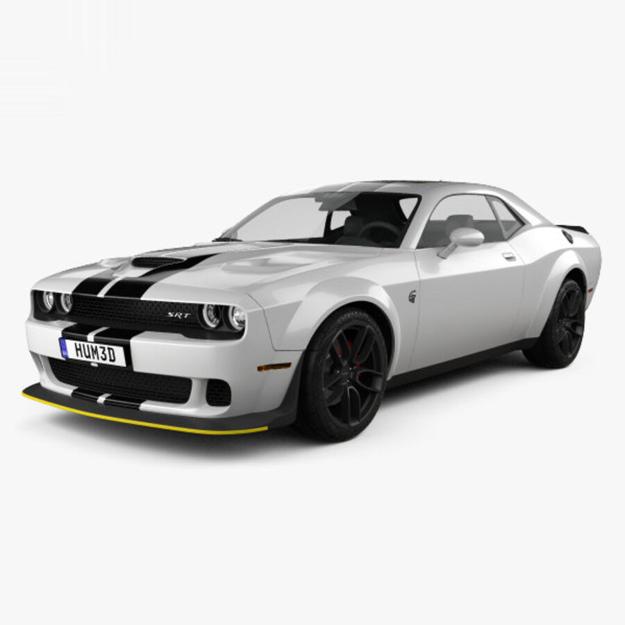 Dodge Challenger SRT Hellcat Wide Body 2018 royalty-free 3d model - Preview no. 1