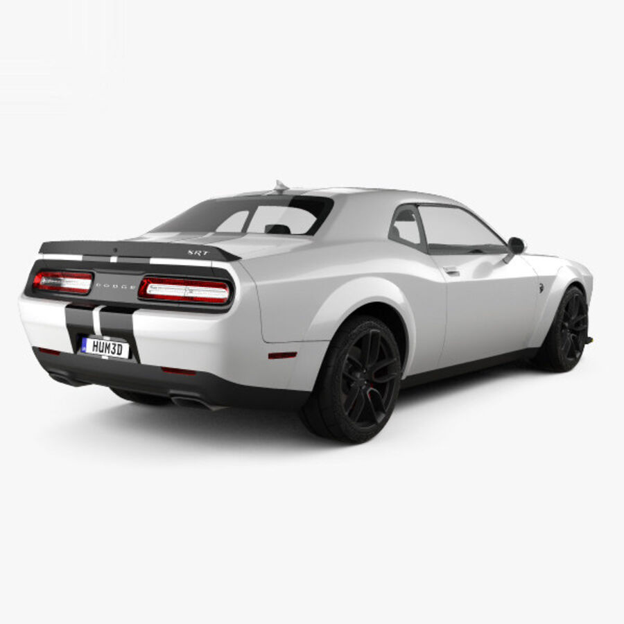 Dodge Challenger SRT Hellcat Wide Body 2018 royalty-free 3d model - Preview no. 2