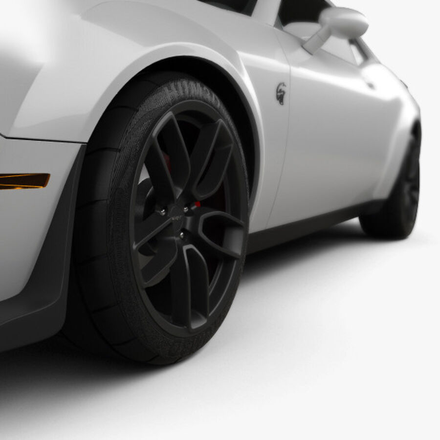 Dodge Challenger SRT Hellcat Wide Body 2018 royalty-free 3d model - Preview no. 8