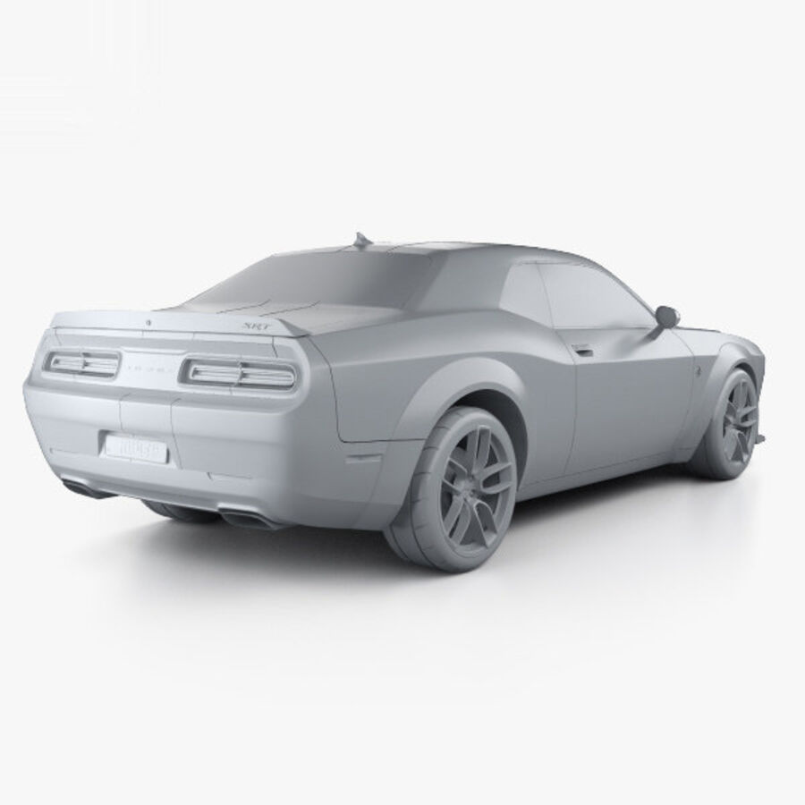 Dodge Challenger SRT Hellcat Wide Body 2018 royalty-free 3d model - Preview no. 12
