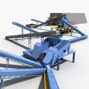 鉱山機械 3d model