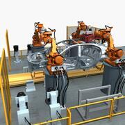 Automobile assembly line 3d model