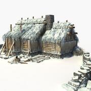 雪屋 3d model