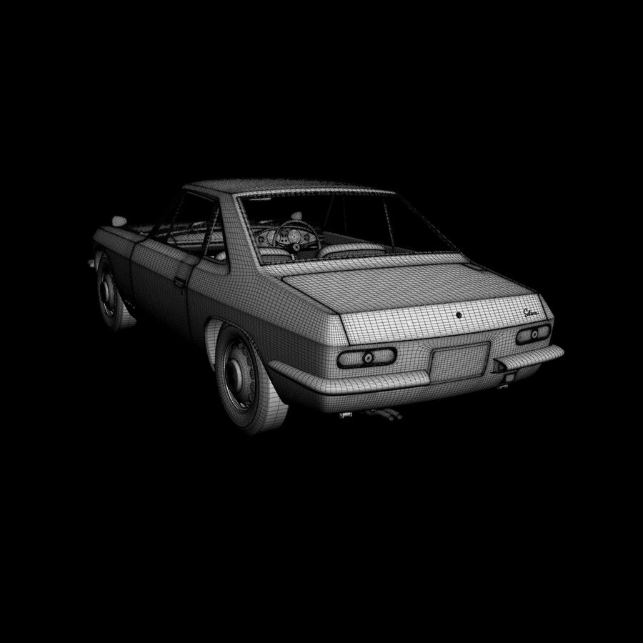 Nissan Silvia CSP311 royalty-free 3d model - Preview no. 17