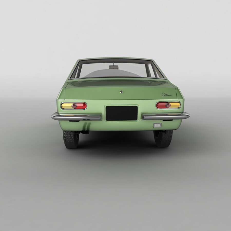 Nissan Silvia CSP311 royalty-free 3d model - Preview no. 4