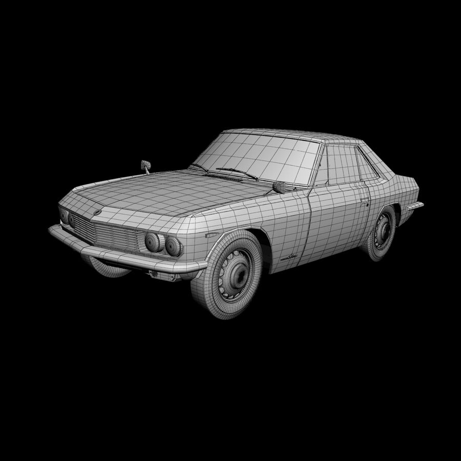 Nissan Silvia CSP311 royalty-free 3d model - Preview no. 14