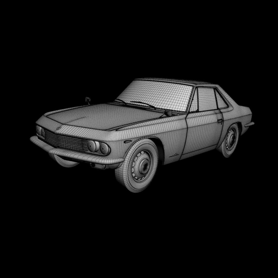 Nissan Silvia CSP311 royalty-free 3d model - Preview no. 15