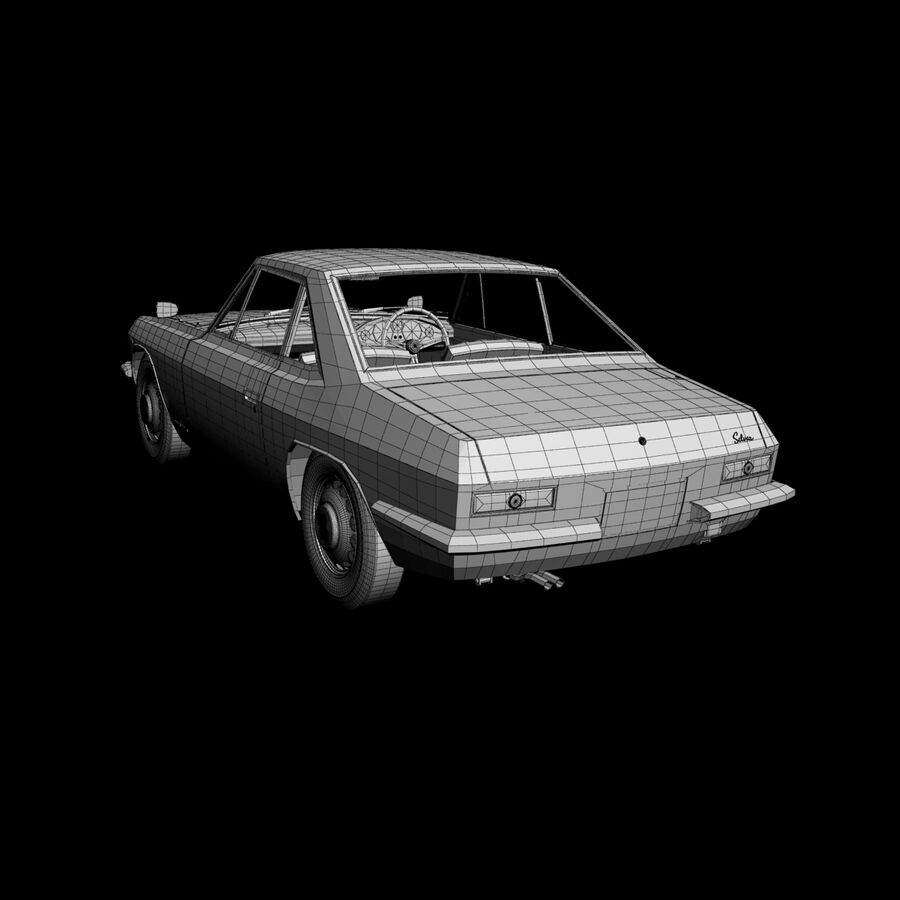 Nissan Silvia CSP311 royalty-free 3d model - Preview no. 16
