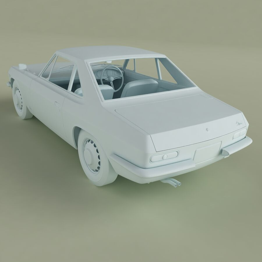 Nissan Silvia CSP311 royalty-free 3d model - Preview no. 13