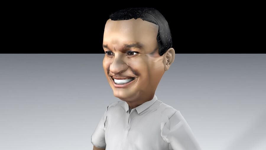 Chibi Anies Bas royalty-free 3d model - Preview no. 2