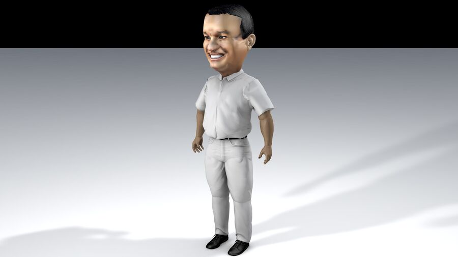 Chibi Anies Bas royalty-free 3d model - Preview no. 1