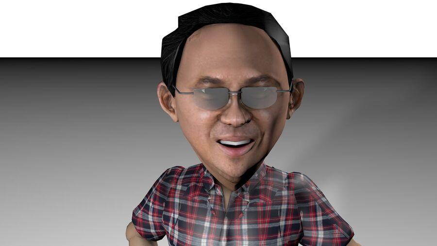 Chibi Ahok royalty-free 3d model - Preview no. 2