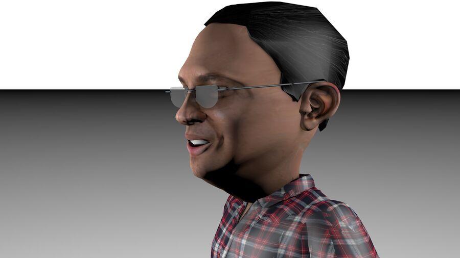Chibi Ahok royalty-free 3d model - Preview no. 3