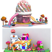 Kolekcja domów cukierków 3d model