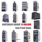 CASE DI AMSTERDAM 13 EDIFICIO DI ANNA FRANK 3d model
