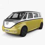 Volkswagen ID Buzz med HQ interiör 2017 3d model