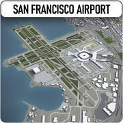 サンフランシスコ国際空港-SFO 3d model