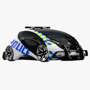 Futuristic Police Compact Car 3d model