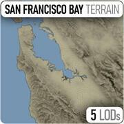 Terreno della Baia di San Francisco 3d model