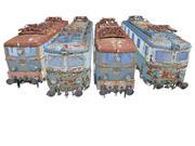 Trains Locomotives Spårpaket 3d model