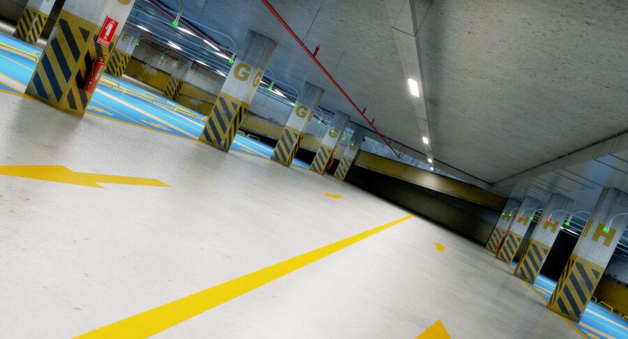 Köpcentrum, parkering och kollektion för offentliga toaletter royalty-free 3d model - Preview no. 19