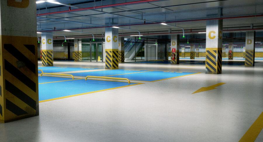 Köpcentrum, parkering och kollektion för offentliga toaletter royalty-free 3d model - Preview no. 18
