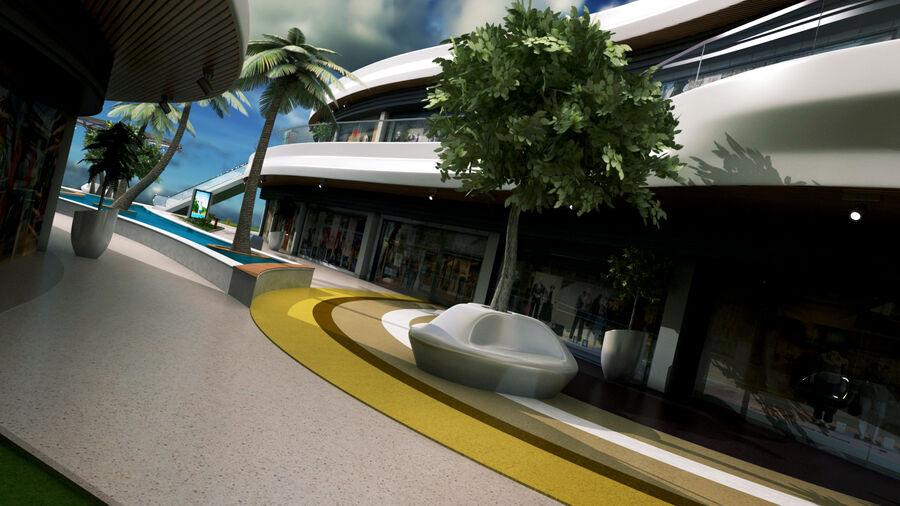Köpcentrum, parkering och kollektion för offentliga toaletter royalty-free 3d model - Preview no. 14