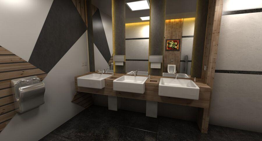 Köpcentrum, parkering och kollektion för offentliga toaletter royalty-free 3d model - Preview no. 35