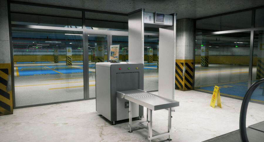 Köpcentrum, parkering och kollektion för offentliga toaletter royalty-free 3d model - Preview no. 25