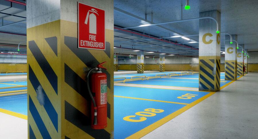 Köpcentrum, parkering och kollektion för offentliga toaletter royalty-free 3d model - Preview no. 28