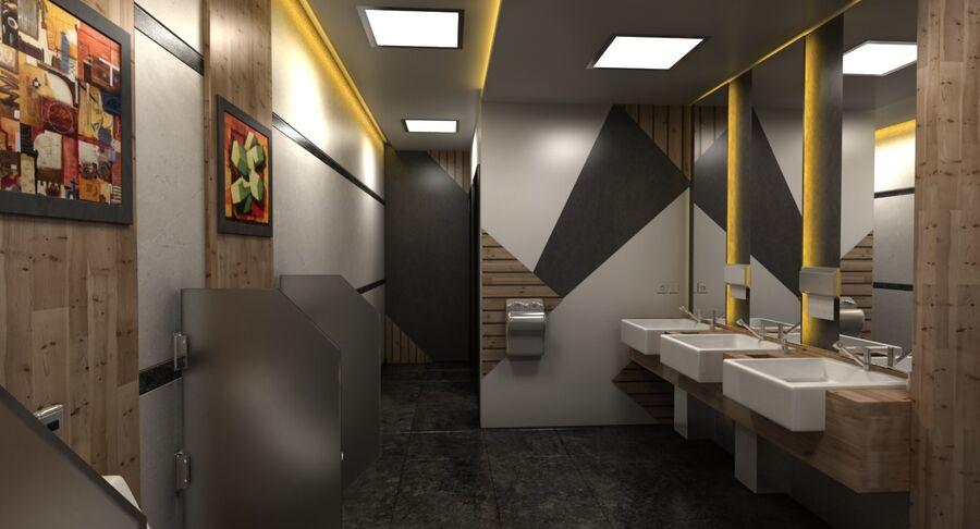 Köpcentrum, parkering och kollektion för offentliga toaletter royalty-free 3d model - Preview no. 4