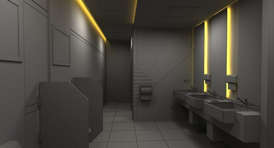 Köpcentrum, parkering och kollektion för offentliga toaletter royalty-free 3d model - Preview no. 45