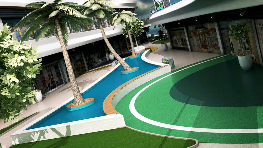 Köpcentrum, parkering och kollektion för offentliga toaletter royalty-free 3d model - Preview no. 10