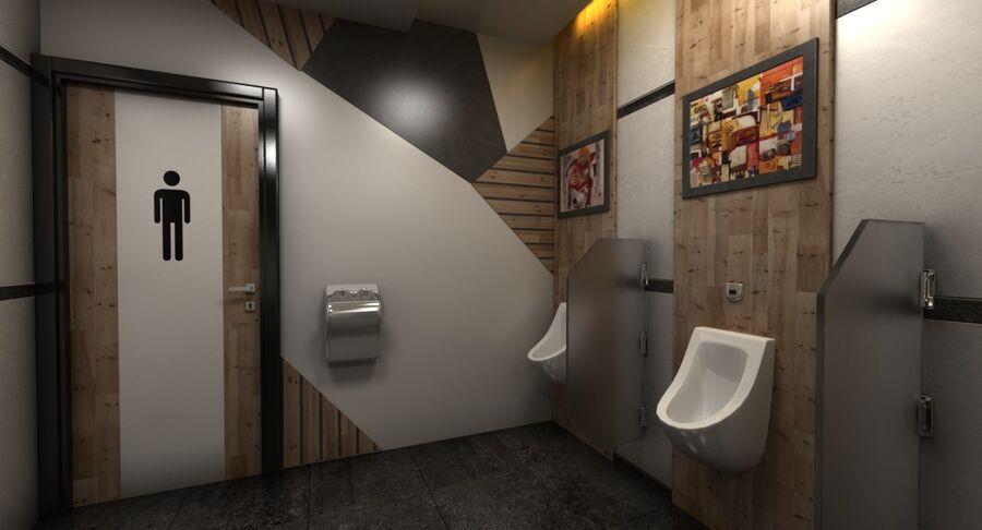 Köpcentrum, parkering och kollektion för offentliga toaletter royalty-free 3d model - Preview no. 36