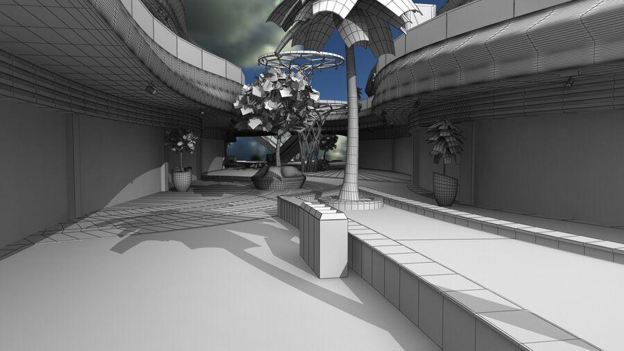 Köpcentrum, parkering och kollektion för offentliga toaletter royalty-free 3d model - Preview no. 17